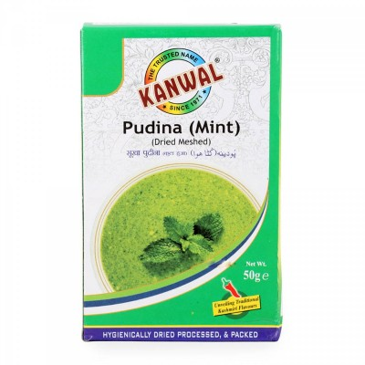 Kanwal Pudina (Dried Mint) Powder ( Pack of 4 )
