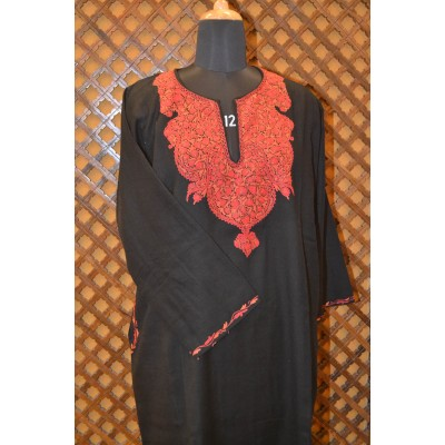 Bold Black Ari Embroidered Pheran