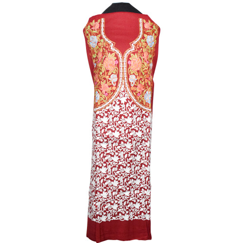 Royal Red Ari Embroidered Kashmiri Suit