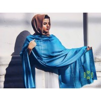 Bleu De France Pure Solid Pashmina Shawl
