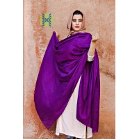 Eminence Purple  Pure Solid Pashmina Shawl