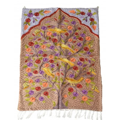 Lively peach Tree of Life Handcrafted Rug