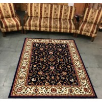 Shalimar Black and Creme Carpet (9 ft x 6 ft)