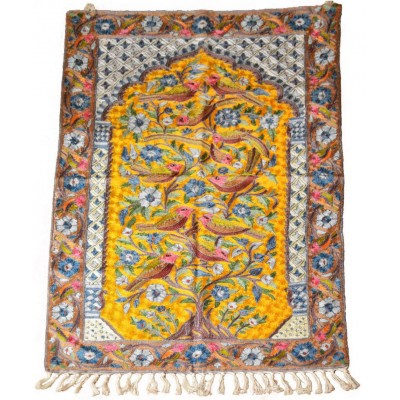 Tangerine Tree of Life Handcrafted Rug