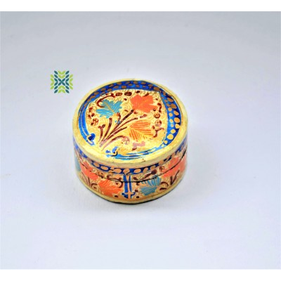 Floral  Paper Machie Ring Box