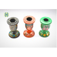 Multi Color Paper Machie Candle Stand (Set of 3)