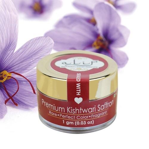 Alif Premium Kishtwari Saffron 1g | Rare 100% Pure & World's Finest Kesar
