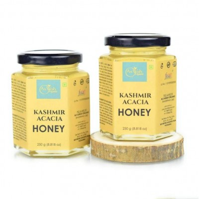 Aswah Organic Kashmir Acacia Honey 250g Pure Monofloral Honey
