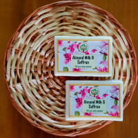 Kashmiri Handmade Almond Milk and Saffron Soap (Pair)