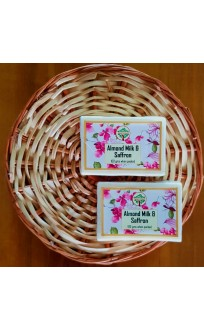 Kashmiri Handmade Almond Milk and Saffron Soap (Pair)