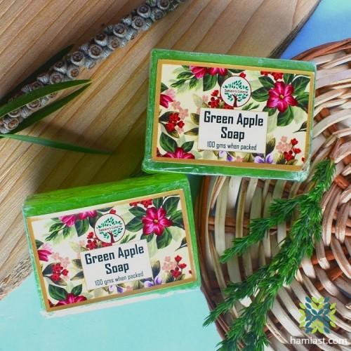 Kashmiri Handmade Green Apple Flavoured Soap (Pair)