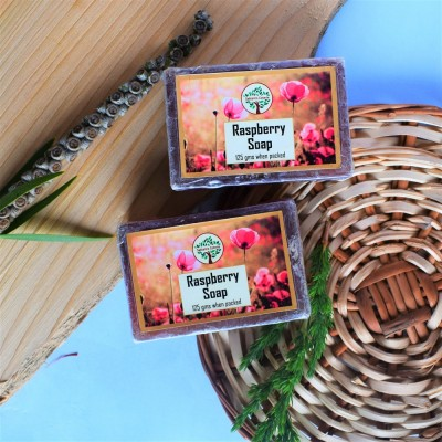 Kashmiri Handmade Raspberry Flavored Soap (Pair)