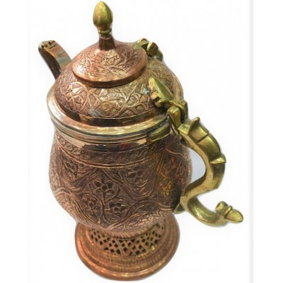 Copper Engraved Medium Sized Kandkaeir Samavar