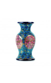Blue Inflorescence Hand Crafted Paper Mache Flower Vase