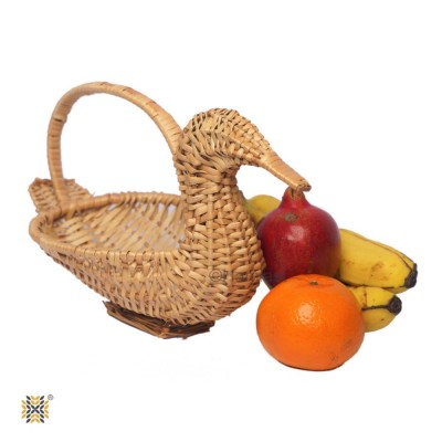Kashmir Wicker Willow Duck Multipurpose Basket With Handle