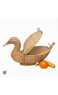 Kashmir Wicker Willow Duck Multipurpose Basket With Lid