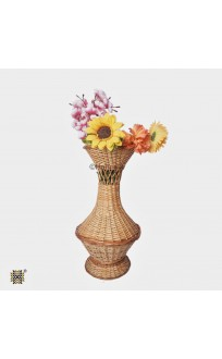 Kashmir Wicker Willow Flower Vase (Pair)  Large