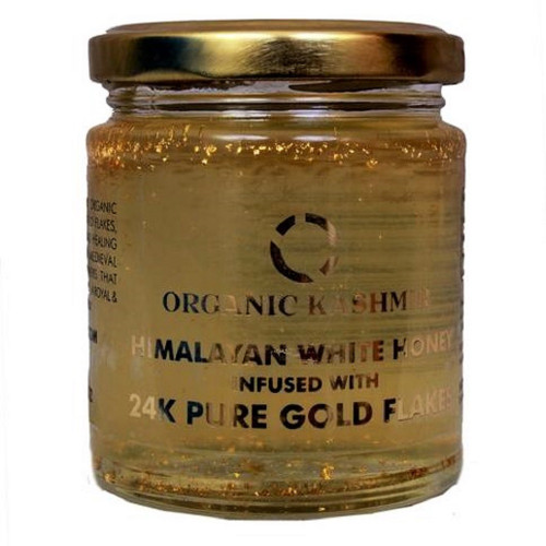 Organic Kashmir 24K Gold Infused Himalayan White Honey (250 gm)