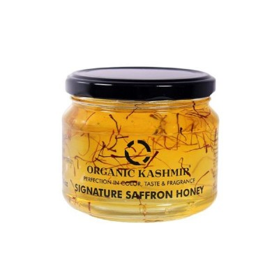 Organic Kashmir Signature Saffron Blended Honey (400 gm)