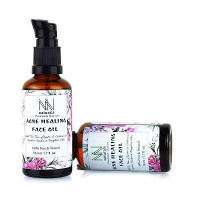 Homemade Acne Healing Face Oil For Reducing Acne Marks and Spot Treatment by NN Naturals (50 ml)