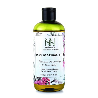 NN Naturals Homemade Non-sticky Body Massage Oil For Deep Nourishment (300ml)