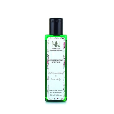 Homemade Moisturizing Body Oil For Deep Skin Nourishment By NN Naturals 200 ml