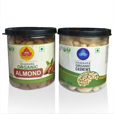 Nimbark Organic Almonds, Cashews Combo (250g each)