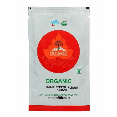 Nimbark Organic Black Pepper Powder 50 gm (Pack of 4)