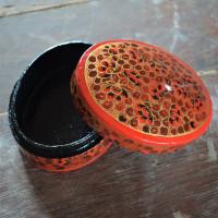 Vermilion Floral Paper Mache Soap Box