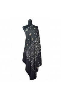 Black Pashmina Shawl With Sozni Work