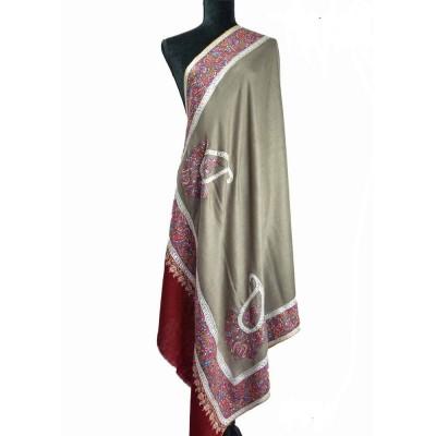 Khudrang Papermachie And Silver Tilla Pashmina Shawl