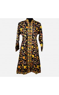 Black Floral Aari Embroidered Jacket