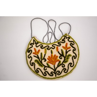 Floral Crewel Sling Pouch