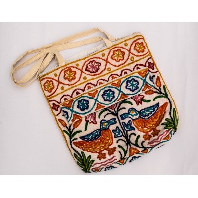 Crewel Duck Embroidered bag