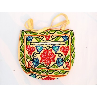 Floral Crewel Carry Bag