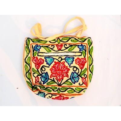 Floral Crewel Carry Bag