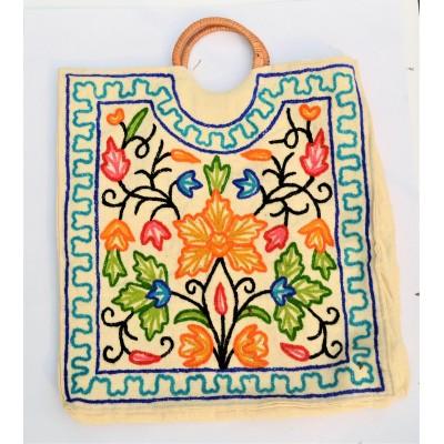 Floral Orange Handbag