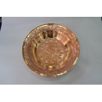 Copper Round  Kandkaeri Plate (Set Of 6)