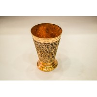Copper Chinar Engraved  Glass