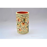 Beautiful tree Embroidered Paper Machie  Pen Holder
