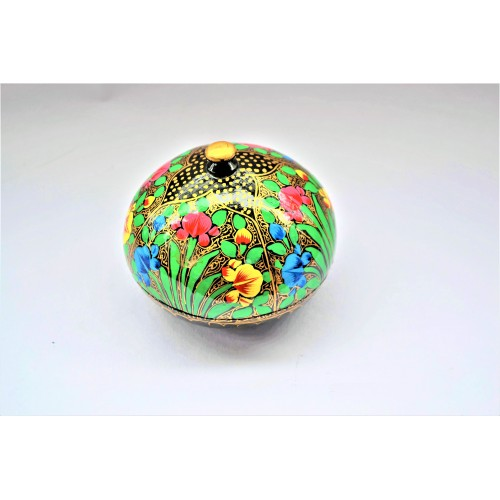 Sphere Shape Paper Machie Powder Box