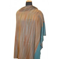 Dark Cantaloupe Striped Hand Woven Pashmina Shawl