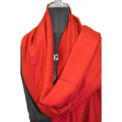 Blazing Solid Red Pashmina Shawl