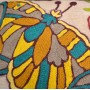 Butterfly Embroidered Pillow Cover