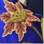 Blue Handmade Aari Cushion Cover (Set of 2)
