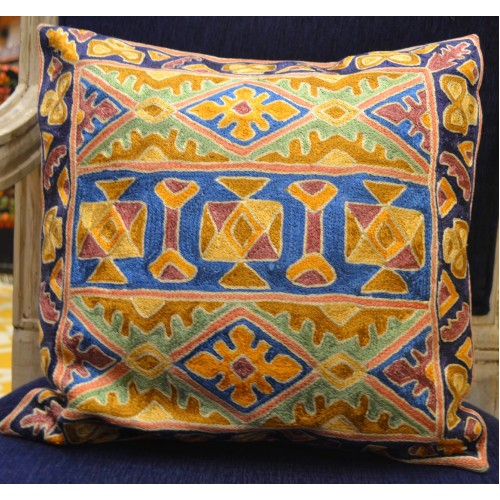 Multi-color Handmade Cushion Cover (Set Of 2)