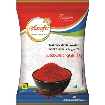 Aarafh Traditional Premium Kashmiri Red Chilly | Lal Mirch Powder | Wazwan Quality 1 Kg