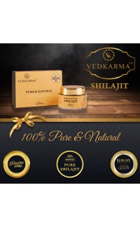 VEDKARMA PURE AND NATURAL SHILAJIT RESIN 15G